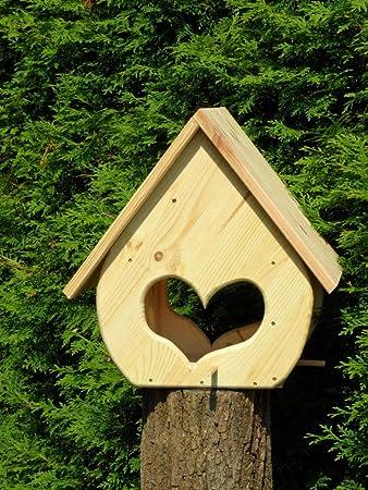 Arbrikadrex Schönes Futterhaus Bausatz Futterhäuschen Nistkasten Vogelhaus  18mm Kiefernholz Vogelhäuschen Zum Bemalen Dekorieren Basteln Deko