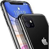 DTTO iPhone 11 ケース 6.1インチ 9H背面強化ガラス TPUバンパー 米軍MIL規格 日本旭硝子製 高透明 三層構造 クリア 黄変防止 四隅滑り止め ストラップホール付き クリア