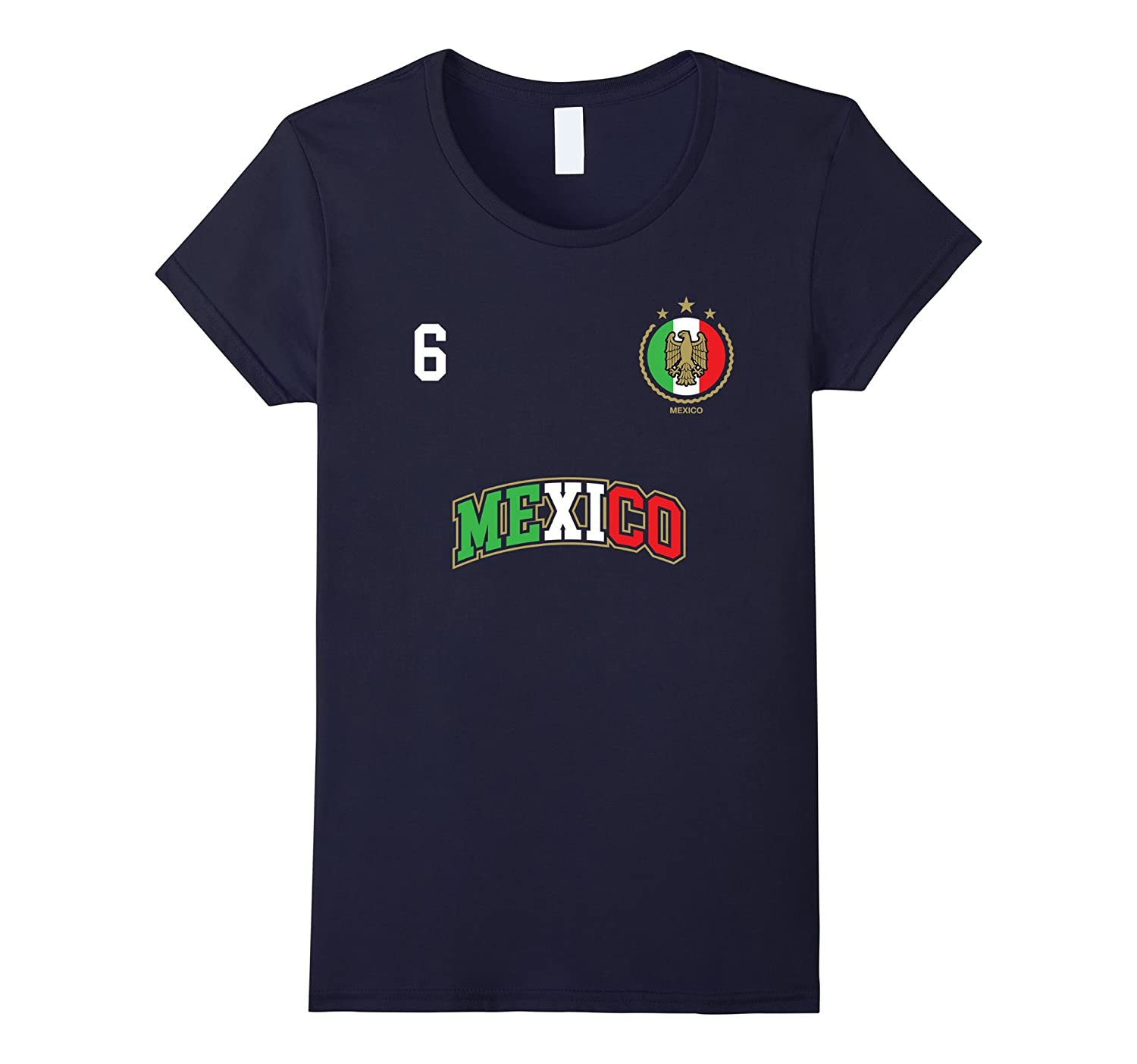 Amazon.com: Mexico Shirt Number 6 Soccer Team Sports Mexican Flag: Clothing
