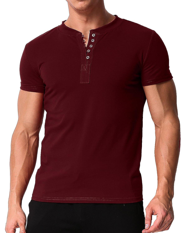 MODCHOK Camisa Casual - Manga Corta - para Hombre