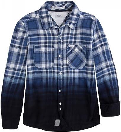 Pepe Jeans - Camisa - para niño azul 12 años: Amazon.es: Ropa y accesorios