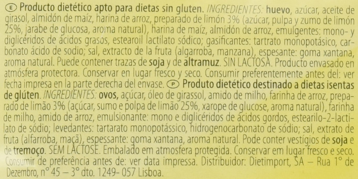 Dr. Schar Lemon Cake Plum Cake - 250 gr: Amazon.es: Alimentación y bebidas