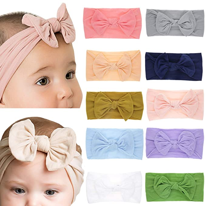 Elesa Miracle Baby Headband Nylon Elastic Floral Knotted Headbands Baby  Girl Headbands Head Wraps Turban Knotted fbc3081fcc5