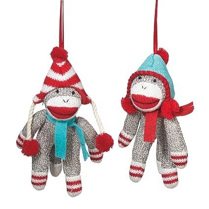 Amazon.com: Midwest CBK Sock Monkey With Winter Hat Christmas ...