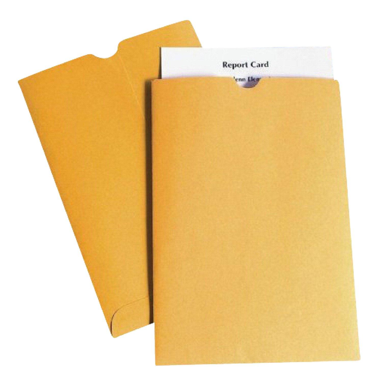 School Smart Report Card Envelope, 28 lb, 6 x 9 Inch, Kraft, Pack of 500