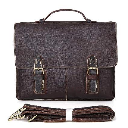 9c403e3685b8 Amazon.com: KCXUT Briefcase Men's Leather Briefcase Satchel Office ...