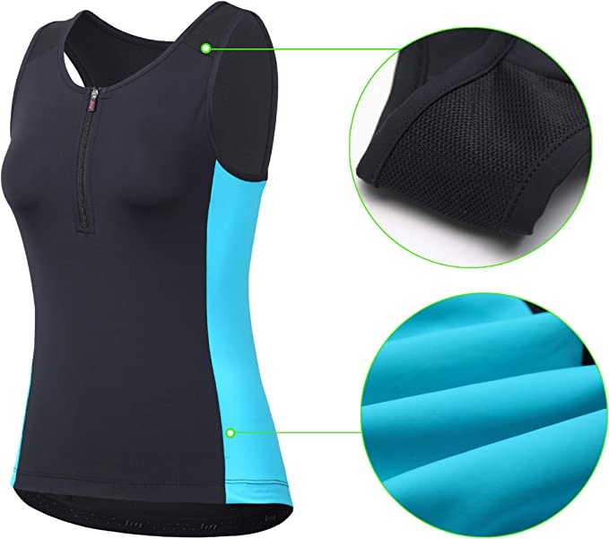beroy Women Persuit Tri Tank Top,Tristhlon Top Cycling Shorts Jerseys