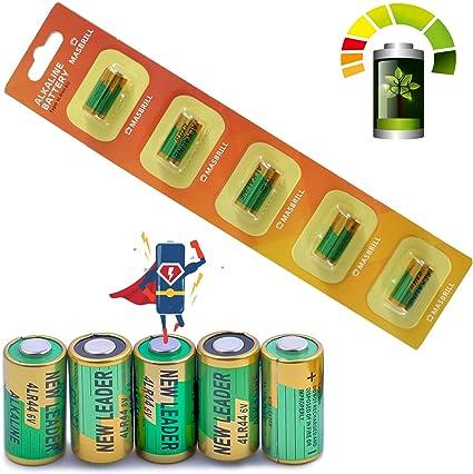 MASBRILL Bark Collar Battery 6V 4LR44 Alkaline Battery,476A A544 5pcs K28A PX28A L1325 for Vibration and Shock Dog Collar
