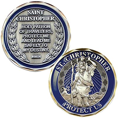 EAGLE CREST INC New St. Christopher Challenge Coin: Toys & Games