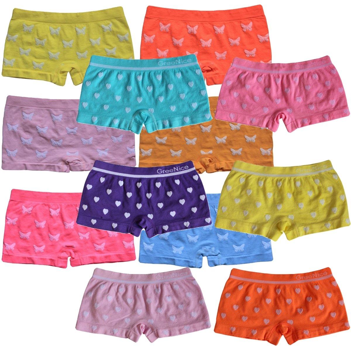BestSale247 6 | 12 Stück Mädchen Pantys Hipster Shorts Girls Kinder Unterhosen Kids Unterwäsche Mikrofaser 92 bis 158