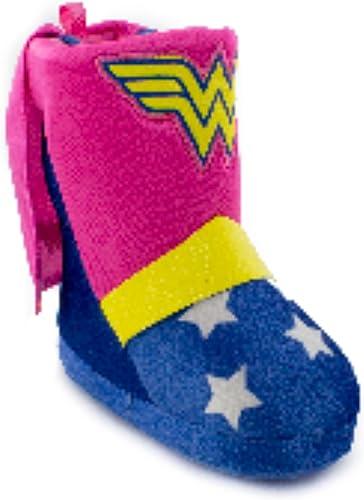WONDER WOMAN Plush Boot Costume Slippers w//Cape