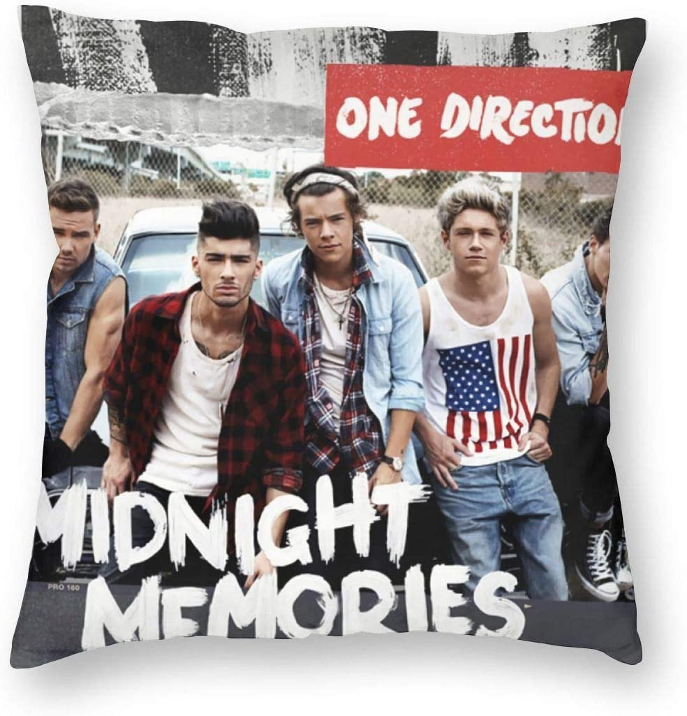 GuanRkon One Direction Square Pillow New Pillowcase Multiple Sizes Square Throw Pillow Covers Home Office Sofa Holiday Decoration 18