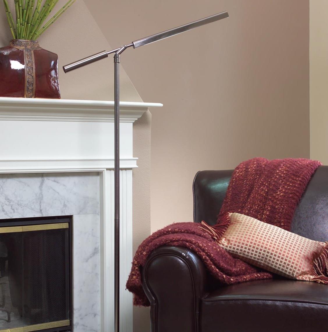 OttLite T92BNT Vero Floor Lamp in Brushed Nickel - Floor Lamps Ott ...