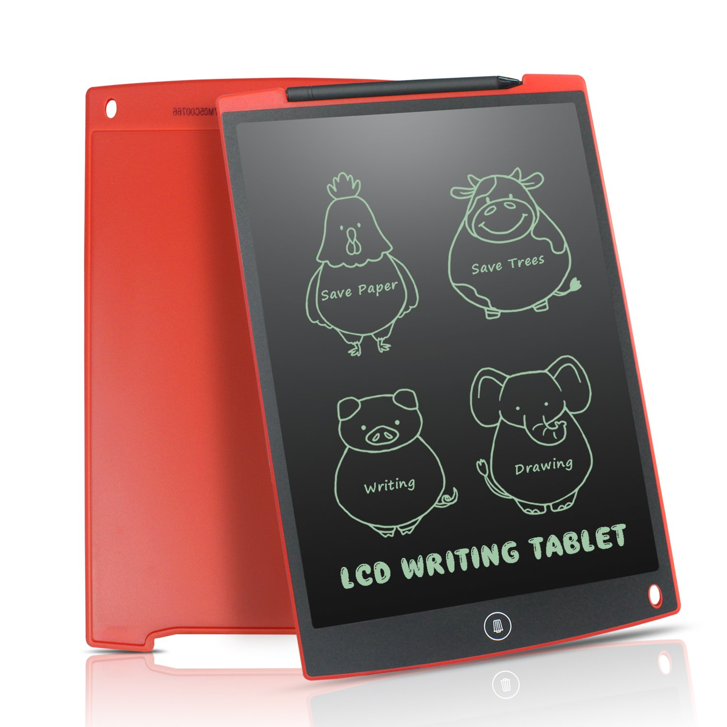 LCD Writing Tablet 12 Inch - HOMESTEC Drawing Board Gifts for Kids Office Writing Memo Board (Red) BKWT120A-RD