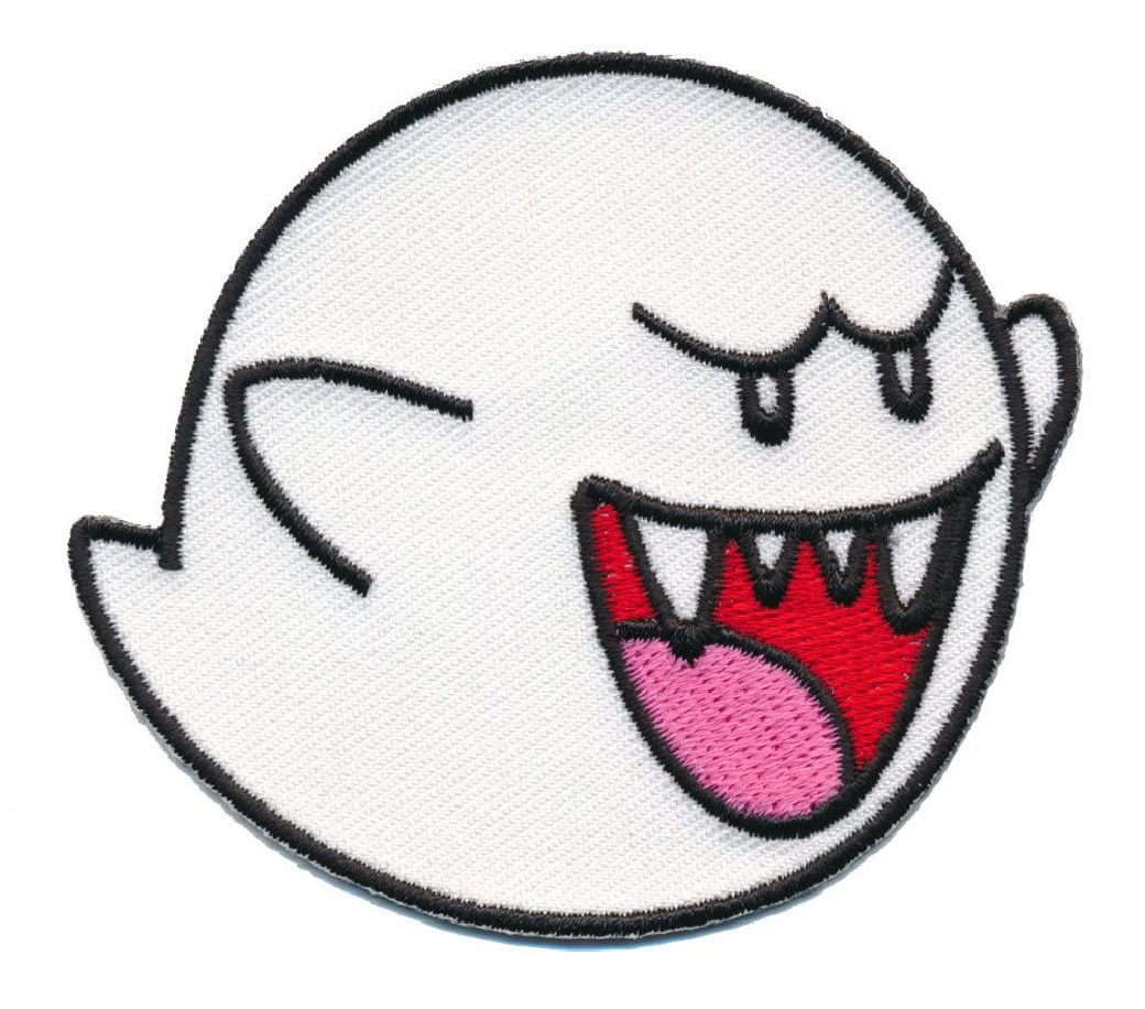 Ghost Boo Super Mario Game Iron on sew on Patch Miltacusa MTU759A