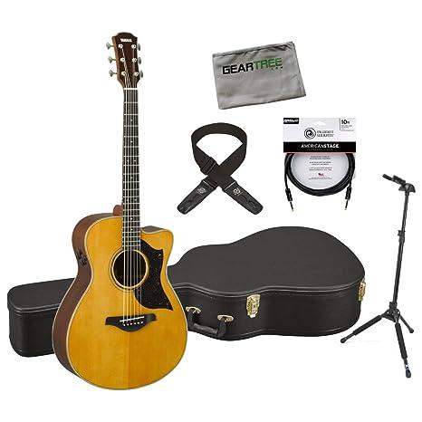 Yamaha ac5r VN fabricado en Japón una serie concierto acústico guitarra eléctrica w/funda,