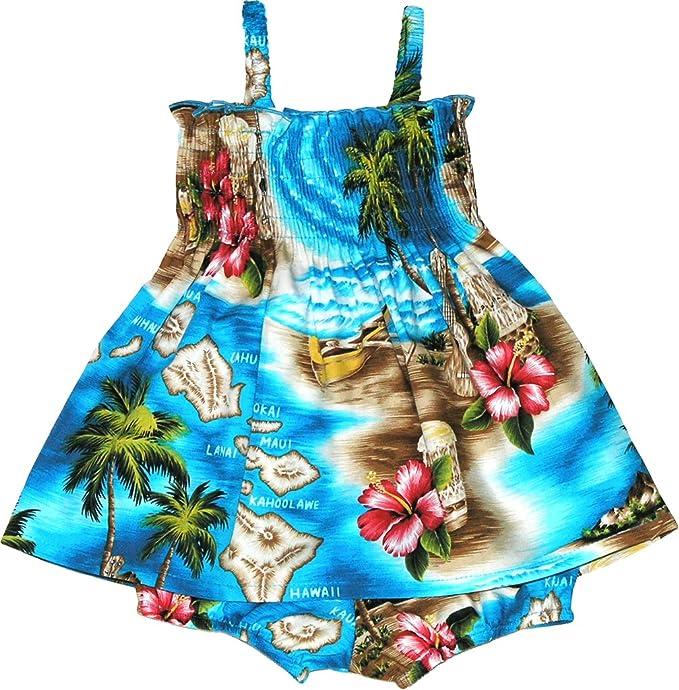 516c787545 Amazon.com  RJC Baby Girl s Tropical Island Escape Smocked Hawaiian 2 Piece  Dress Set  Clothing