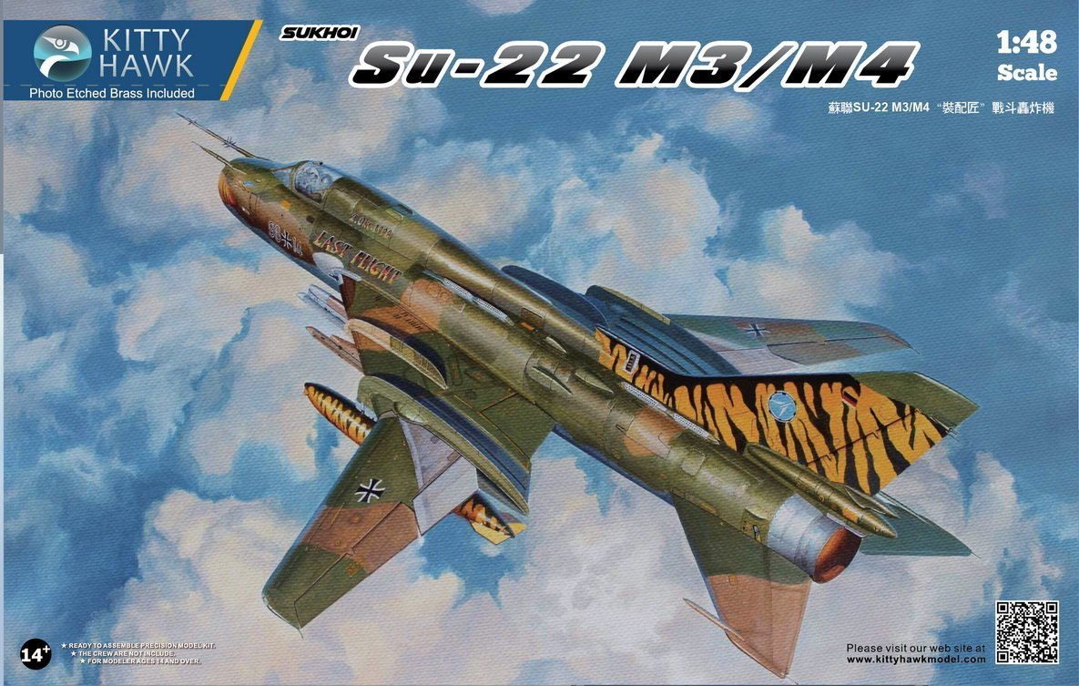 kth80146 1 : 48 Kitty Hawk Sukhoi su-22 m3 / m4 fitter-f [ Model Building Kit ] B077BL1CLY