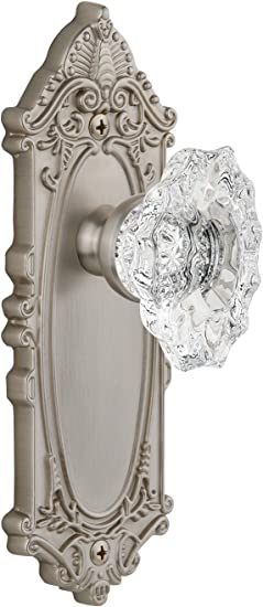 Grandeur Grande Victorian Plate with Biarritz Knob Single Dummy Polished Brass