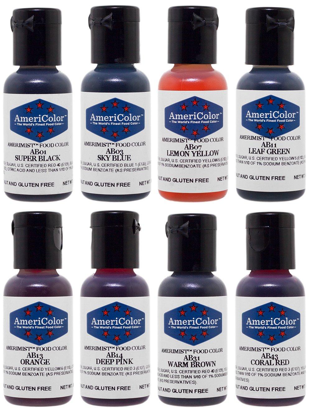 AmeriColor AmeriMist 8 Color Airbrush Food Color Kit AmeriColor Corp.