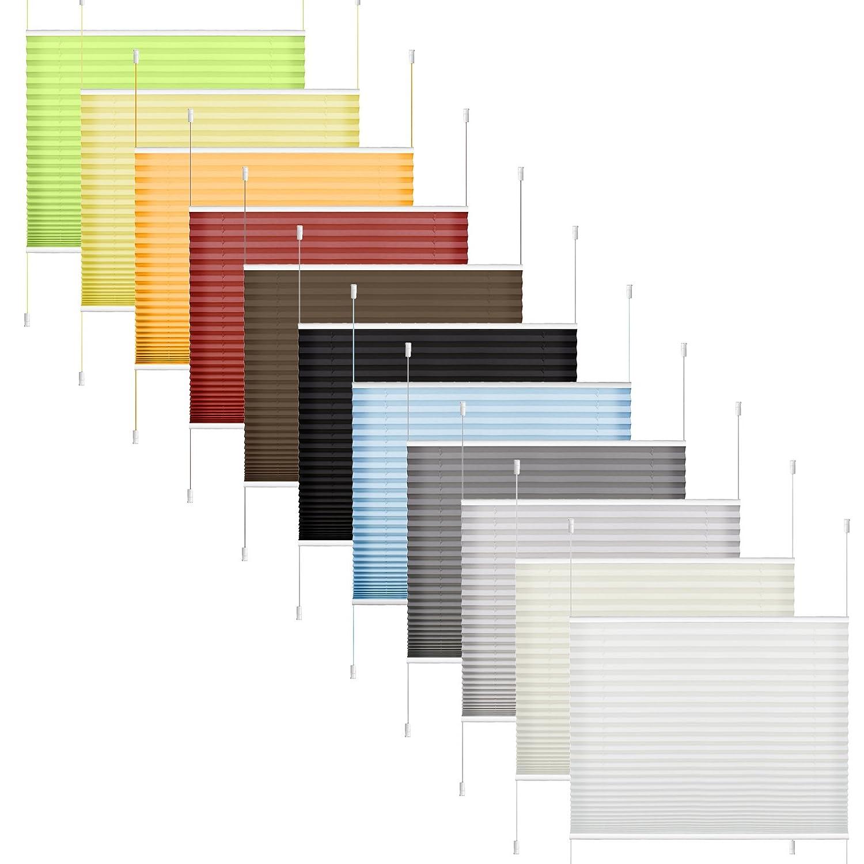 Store Plissé 40 x 130 cm Blanc, Store Plissé Occultant Moterne pour Fenêtre – Montage Simple sans Perçage ni Forage SBARTAR