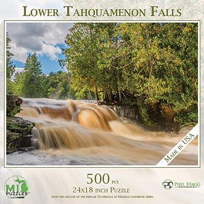 Tahquamenon Falls Lower Falls - 500 Piece MI Puzzles Jigsaw Puzzle: Toys & Games