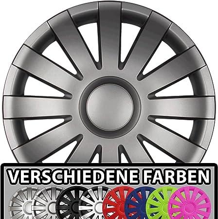 Eight Tec Handelsagentur Farbe Größe Wählbar 16 Zoll Radkappen Agat Graphit Matt Passend Für Fast Alle Fahrzeugtypen Universal Auto