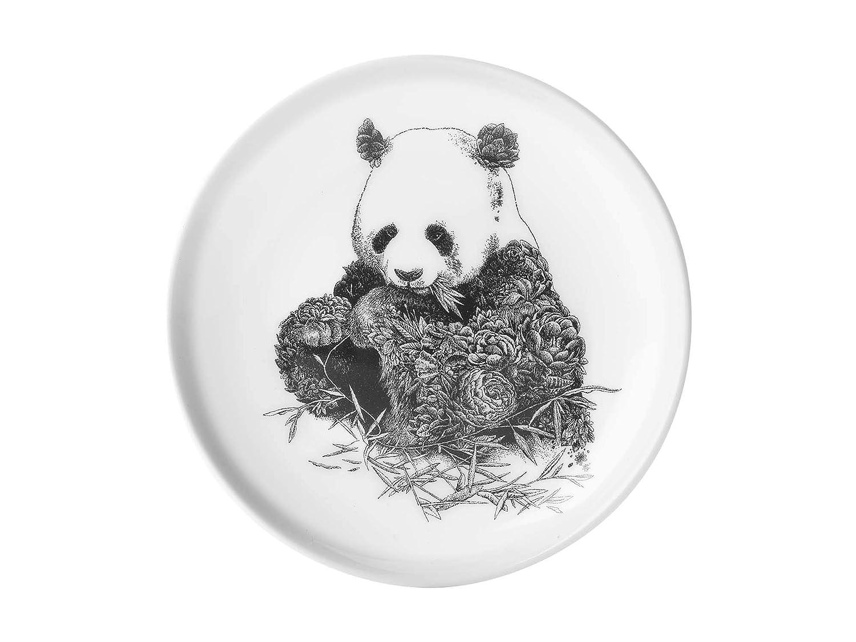 Wei/ß Maxwell /& Williams DX0376 Marini Ferlazzo Teller Asiatic Black Bear in Geschenkbox aus Bone China Porzellan Schwarz