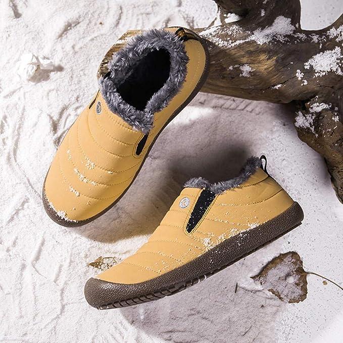 Amazon.com : Hots!!! Teresamoon Mens Non-Slip Plus Velvet Warm Cotton Shoes Snow Boots Booties Plush Shoes : Office Products