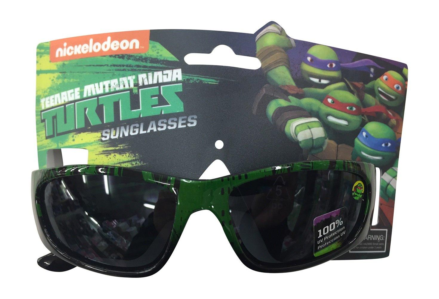 Nickelodeon Ninja Turtles Boys Green Team Sunglasses - 100% UVA & UVB Protection