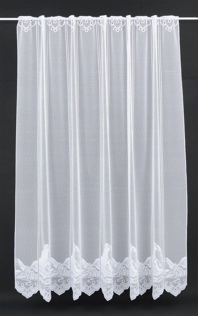 Tenda della finestra Motivo di montagna bianca | Può scegliere la larghezza in segmenti da 15 cm, come vuole | Colore: Bianco
