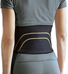 6b21df453d Copper Infused Lower Back Muscle Lumbar Support Compression Belt by LifeShop  | Form-Fitting Graduated