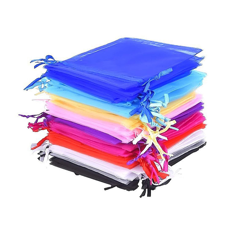 XCOZU Bolsas Regalo de Organza, 50 Unidades de 10 Colores Organza de Regalo Bolsas Pequeñas con Cordón para Regalo de Cumpleaños Fiesta Boda Favores y ...