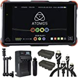 "Atomos Ninja Flame 7"" Monitor Recorder, Battery, Charger, Caltar 7"" Articulating Magic Arm, HDMI A-D Basic 3' Cable and A-C Basic 3' Cable"