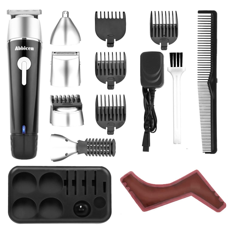 5 In 1 Multi-functional Beard Trimmer Kit, Waterproof Cordless Men's Grooming Kit