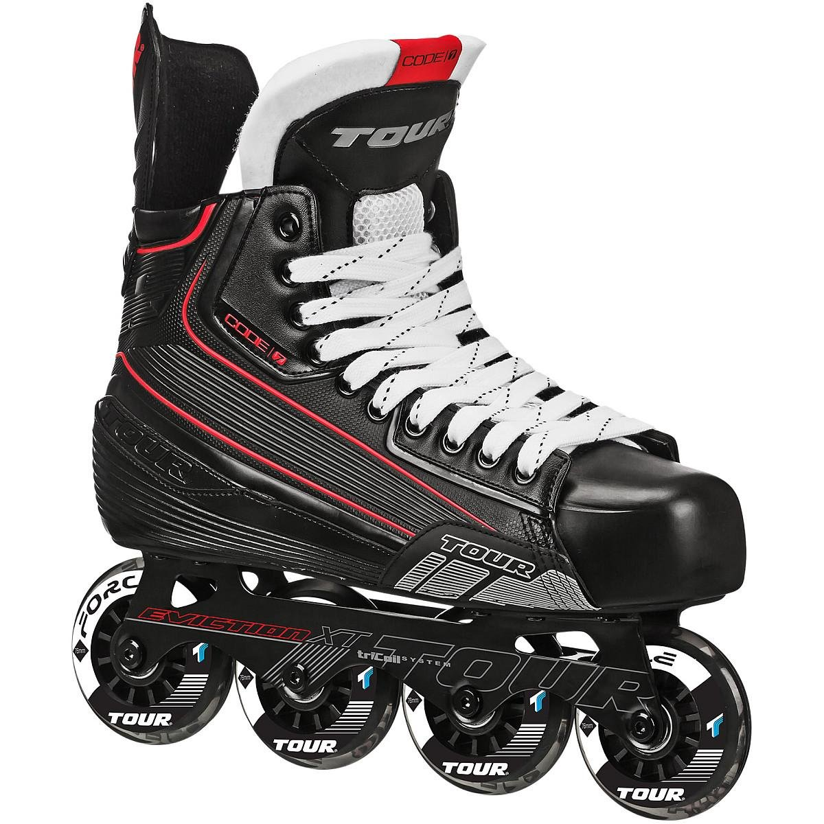 Tour Hockey Code 7 Senior Inline Hockey Skate, Black, 06