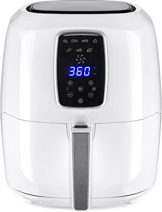 Amazon Com Best Choice Products 5 5qt 7 In 1 Digital Family Sized Air Fryer Kitchen Appliance W Lcd Screen And Non Stick Fryer Basket White Kitchen Dining