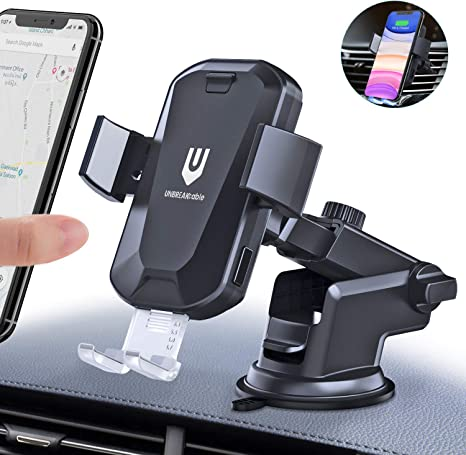 Wireless Car Charger Auto-Clamping Car Mount Air Vent Phone Holder /& QC3.0 Car Charger 10W//7.5W//5W Compatible Galaxy S10//S10+//S9,Charging for iPhone 11//11 Pro//11 Pro Max//XSMax//XS//XR//X//8P//8 Silver