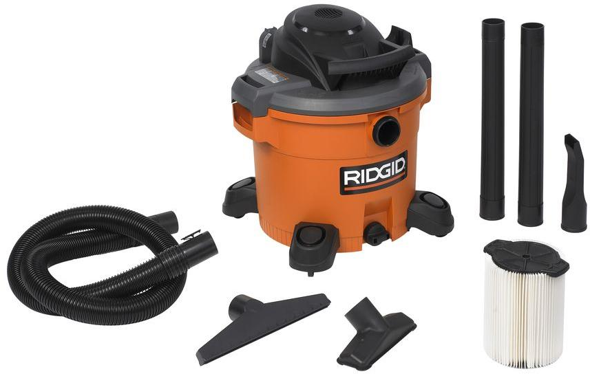 RIDGID 12 Gal. 5.0-Peak HP Wet Dry Vac-WD1270 - The Home Depot