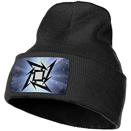 c9db02acd0d Image Unavailable. Image not available for. Color  LixuA Logo Metallica  Music Unisex Warm Winter Hat Knit Beanie Skull Cap Cuff ...