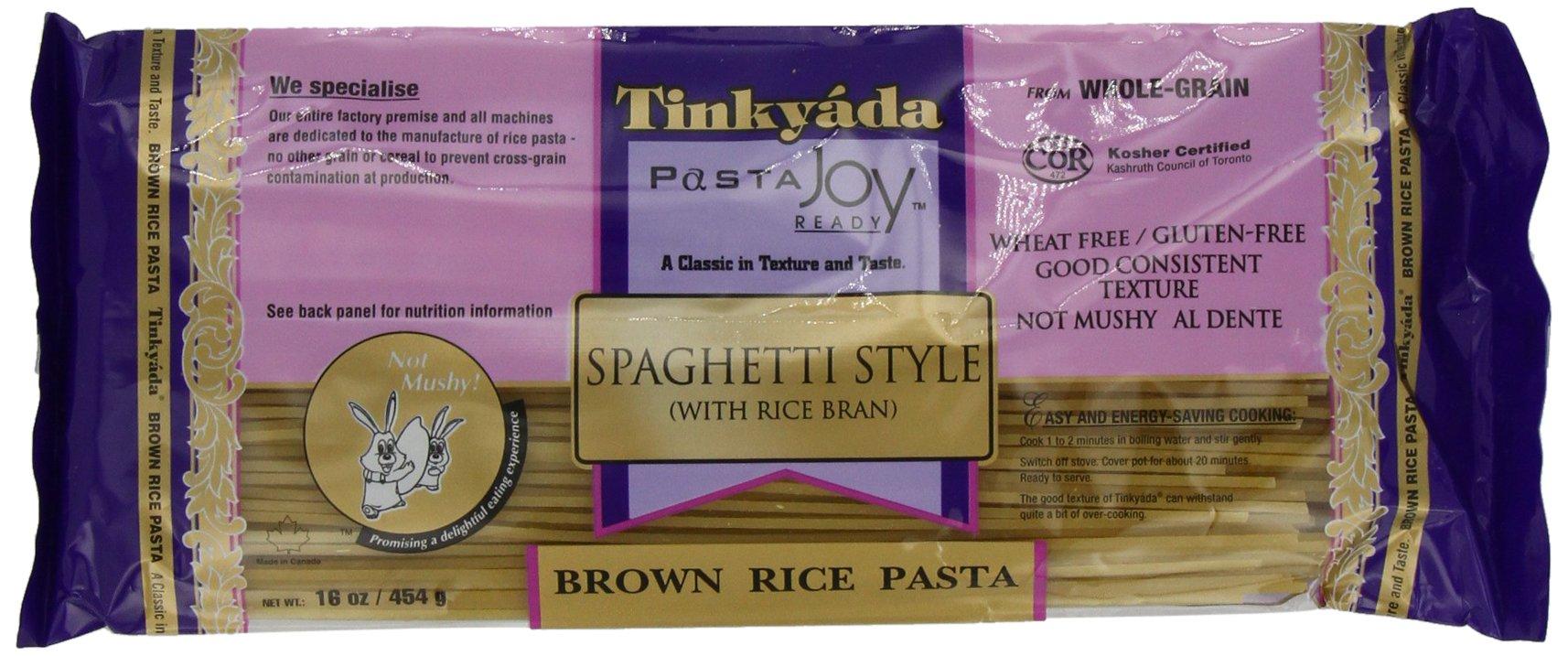 Tinkyada Brown Rice Pasta, Spaghetti, 16 Ounce (Pack of 12) by Tinkyada