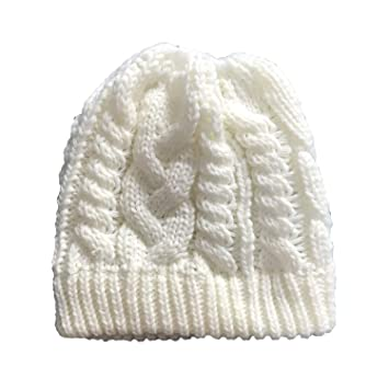 Sombreros de Ganchillo de Lana de Punto elástico para niñas ...