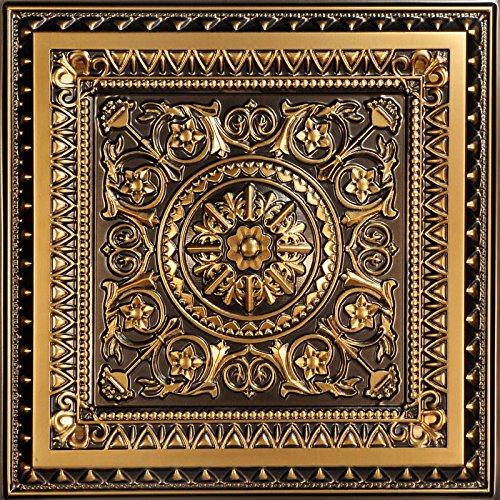 La Scala-Faux Tin ceiling Tile - Antique Gold