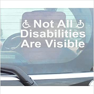 Not all disabilities are visible window sticker for carvantruckvehicle