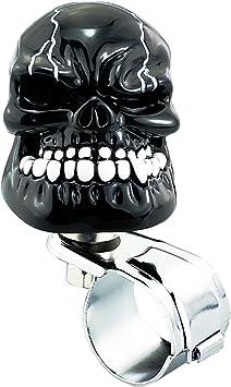 Lensuntom LUNSOM Universal Black Skull Steering Sheels Suiside Knobs Power Handle for Car Assist Steering Turning Spinner Have