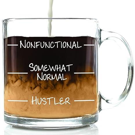 Amazon.com: nonfunctional Funny – Taza de café de vidrio ...