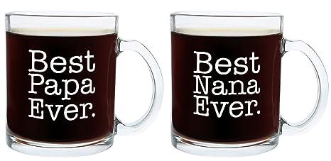 christmas gifts for nana and papa best ever funny fathers day gift glass coffee mug tea