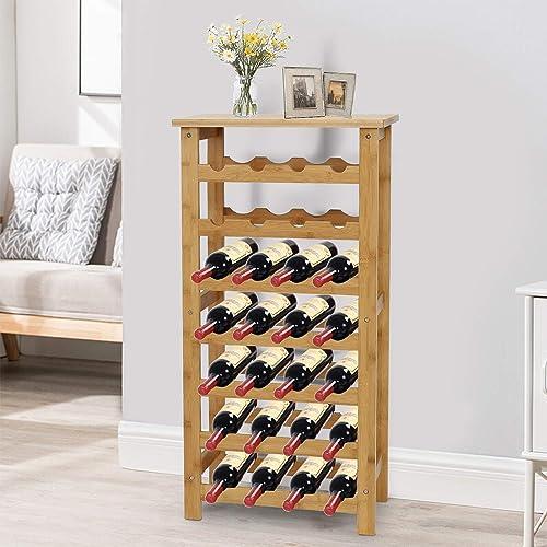 Kinbor 7-Tier Bamboo Wine Rack