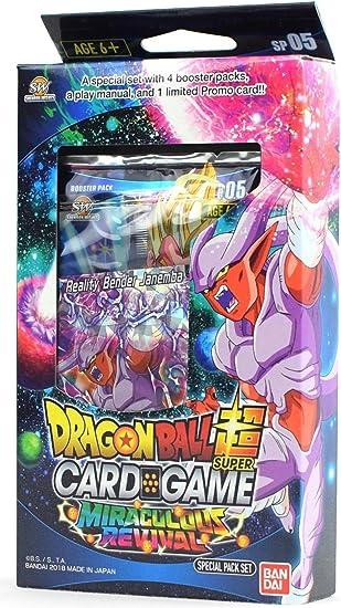 Bandai BCLDBSP1176 Dragon Ball Super Juego de Cartas: Paquete Especial, milagroso Revival: Amazon.es: Juguetes y juegos
