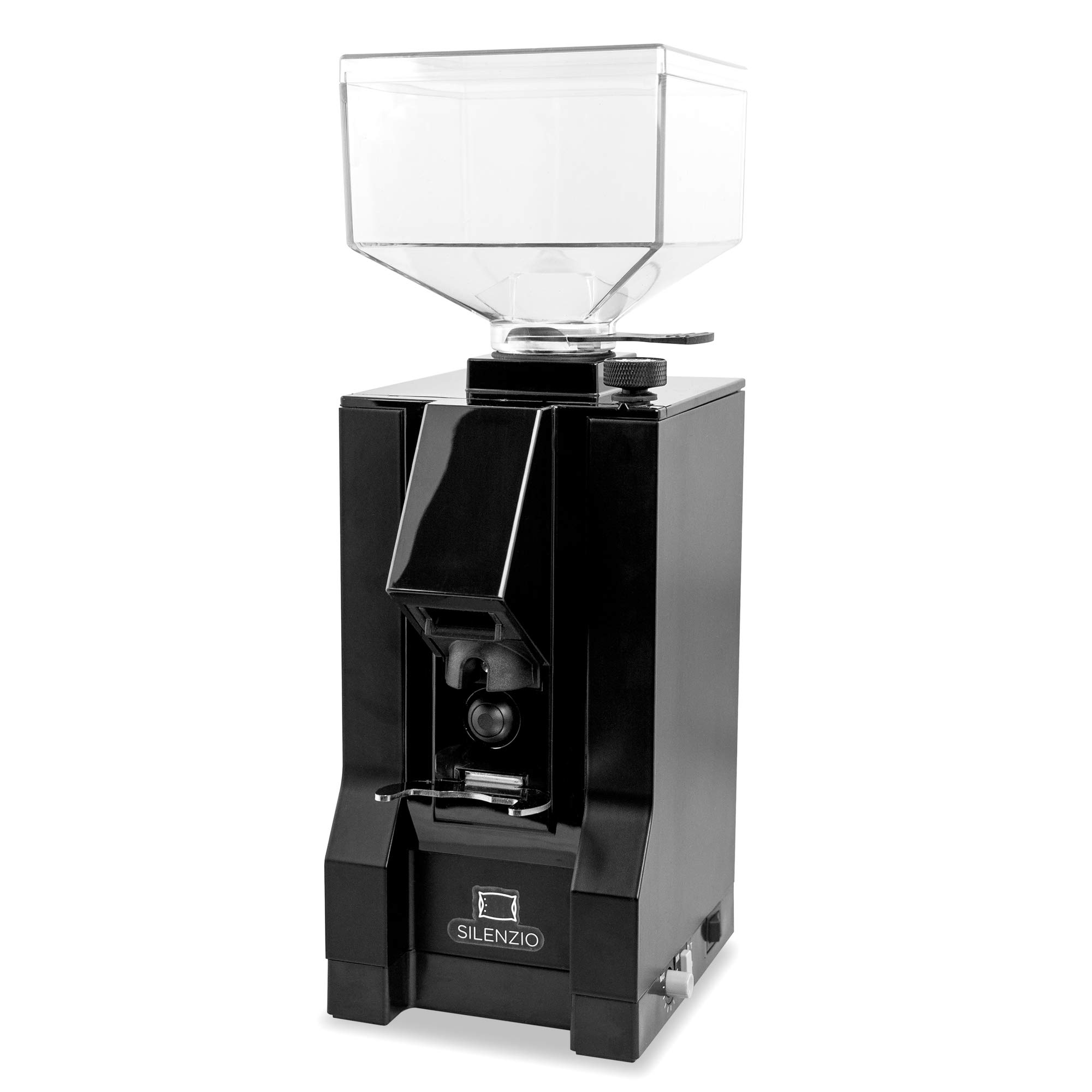 Eureka Mignon Silenzio Ultra Quiet Compact Timed Dosing Espresso Coffee Grinder (Black) by Eureka